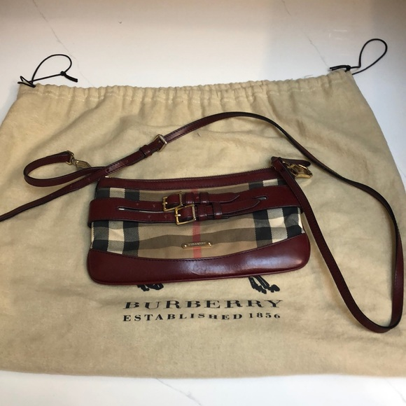 1f0fc778b1b6 Handbags - BURBERRY House Check Bridle Peyton Crossbody Tan